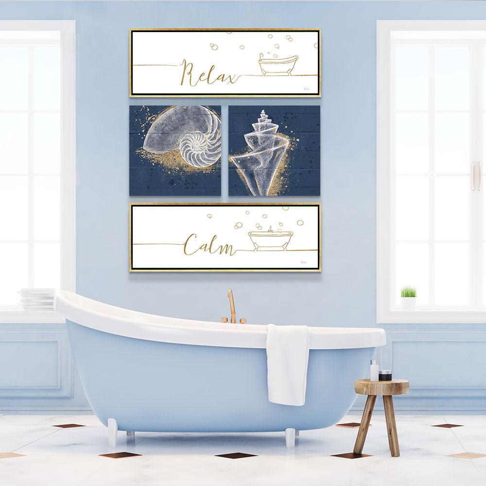 Beach Themed Bathroom Gallery Wall