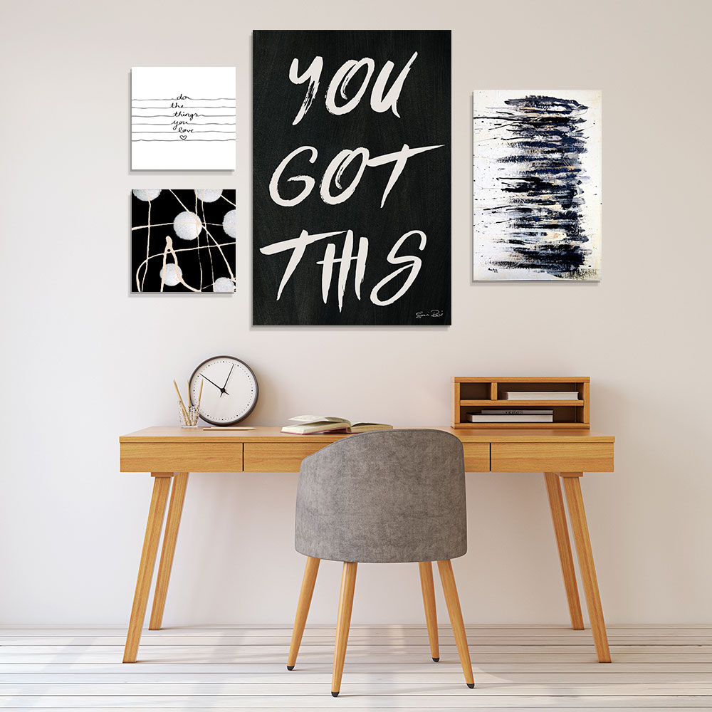 Motivational Office Typography Gallery Wall
