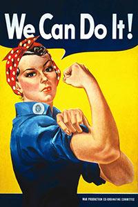 We Can Do It! (Rosie The Riveter) Poster, J. Howard Miller