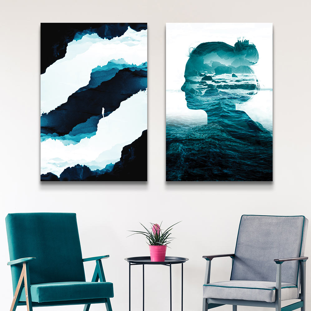 Left to Right: Teal Isolation, The Sea Inside Me by Stoian Hitrov
