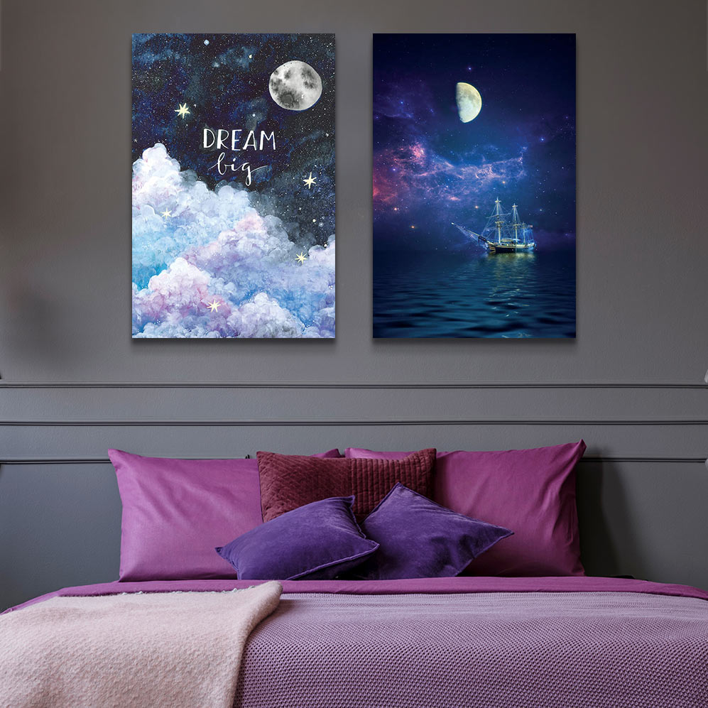 Left to Right: Dream Big by Ana Victoria Calderon; By Way Of The Moon And Stars by John Rivera