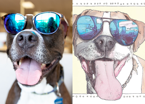 Sophie, a pitbull-boxer-lab mix, and Suzanne Anderson's Sophie's Smile