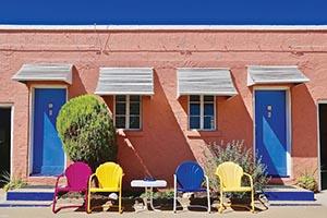 Motel Doors And Chairs, Susan Vizvary