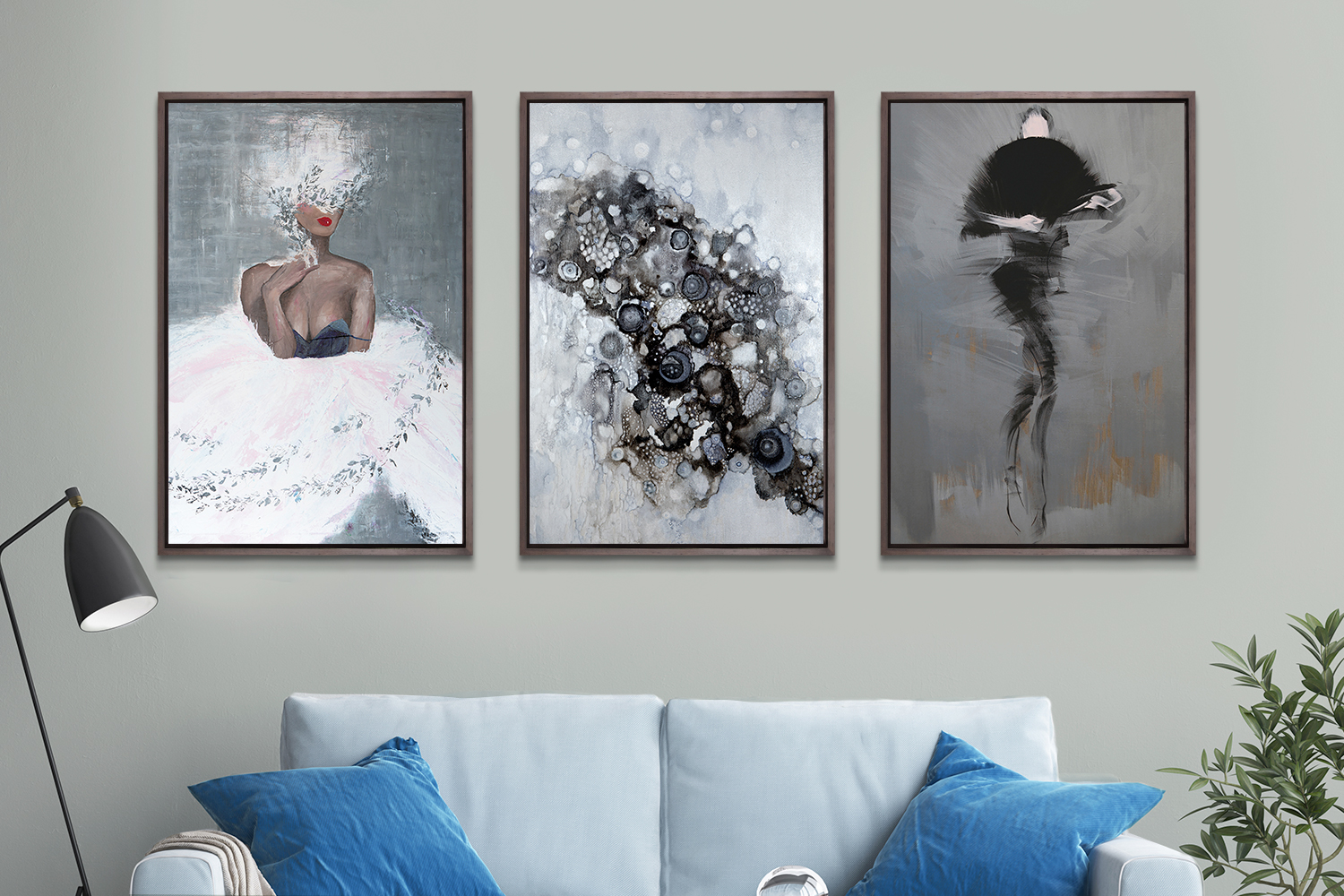 How To Pair Art With Metropolitan Benjamin Moore S 2019 Paint Color Of The Year Icanvas Blog Heartistry