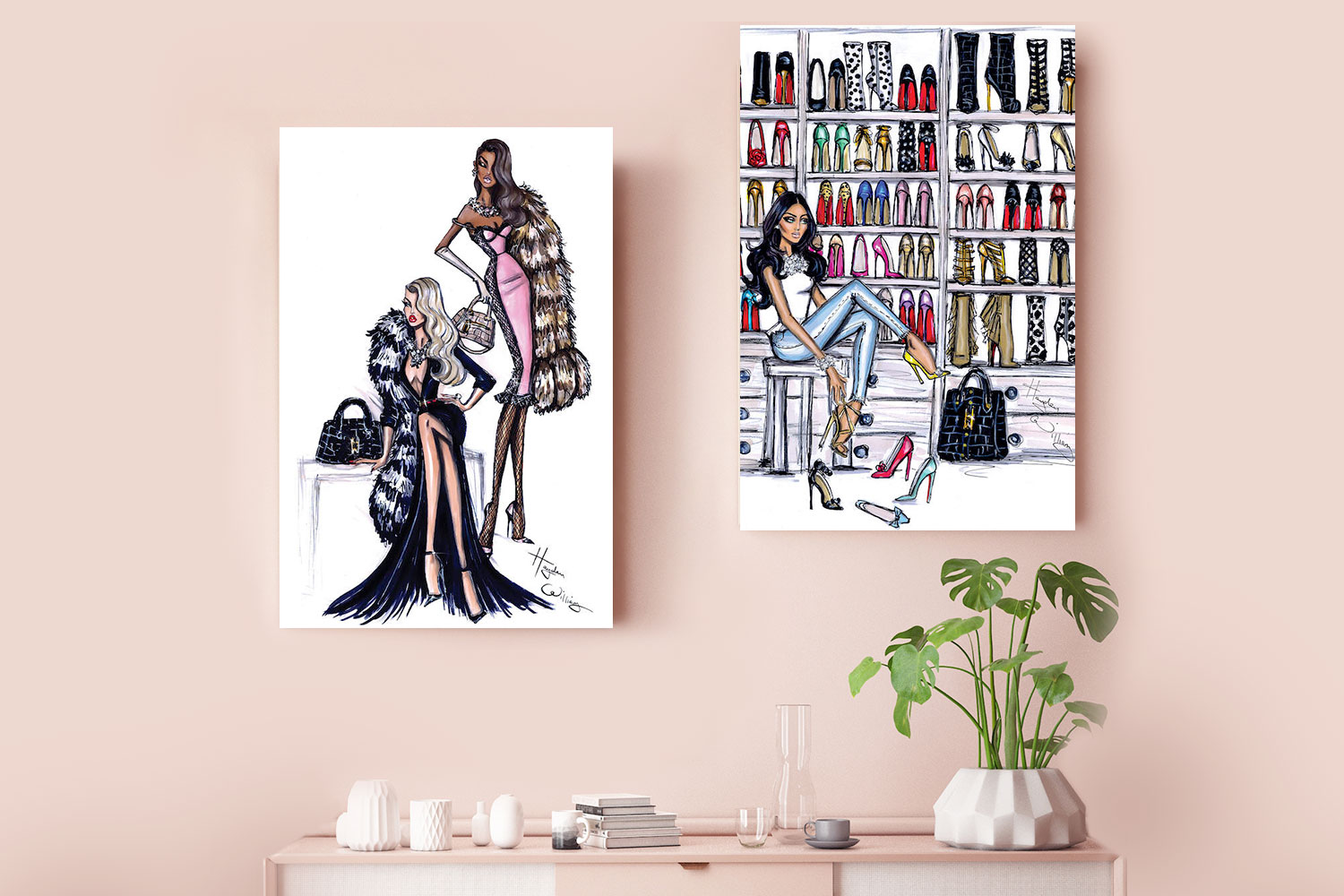 Two Can Play & Shoe Closet, Canvas Prints by Hayden Williams