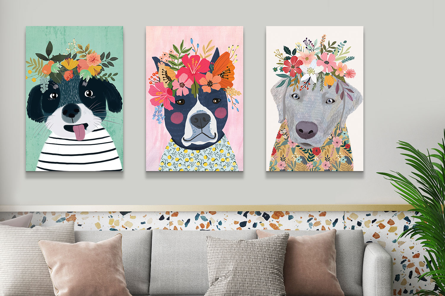 decorating with dog art