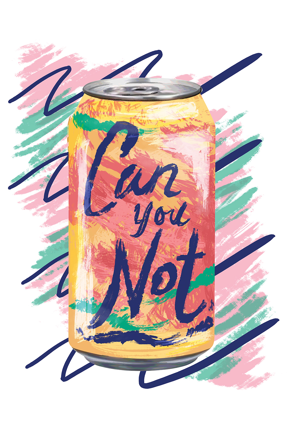 """soda can that looks like la croix brand that reads """"can you not"""""""