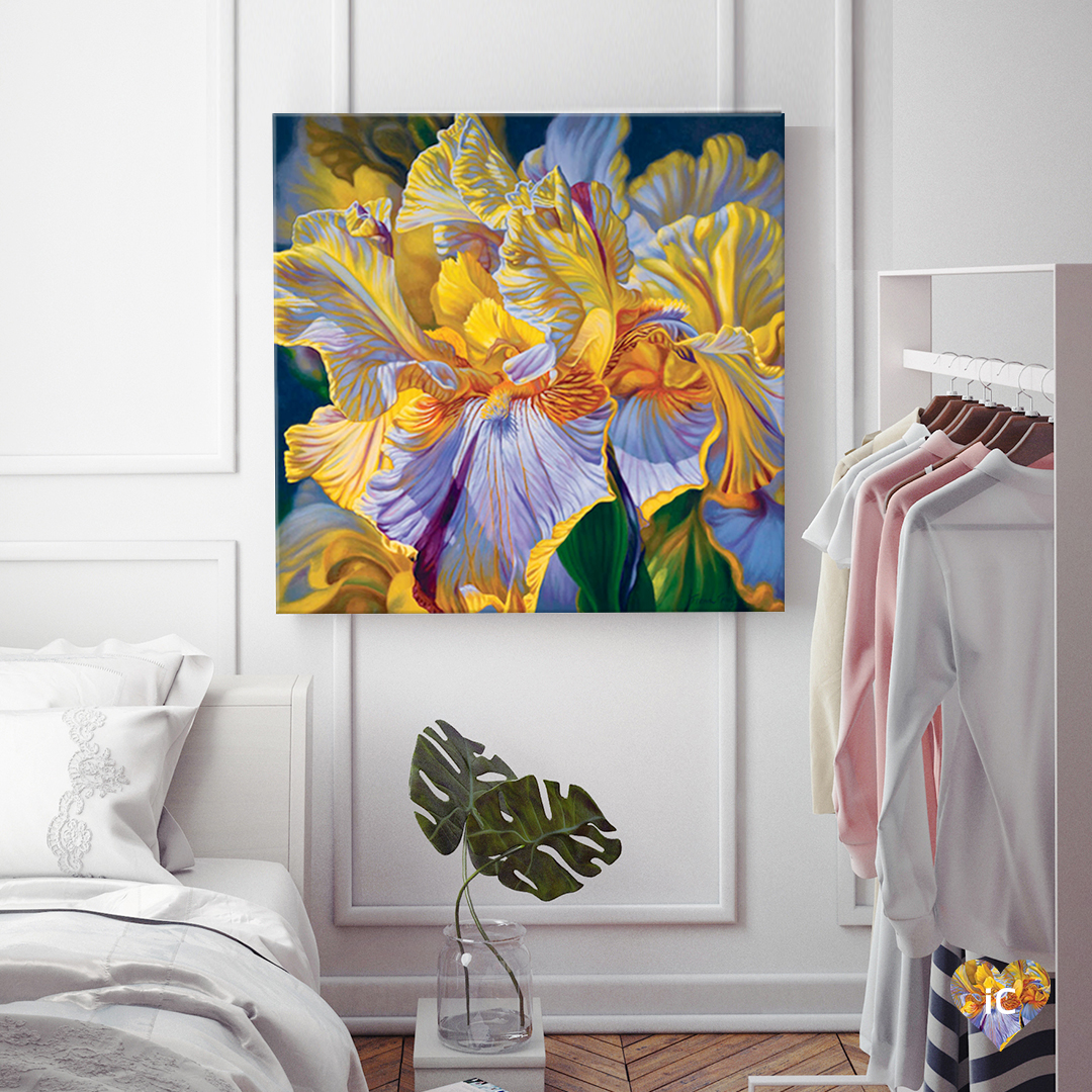 Floralscape II - Mauve and Yellow Irises by Fiona Craig