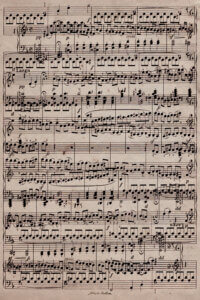 Print of sheet music to Ode to Joy