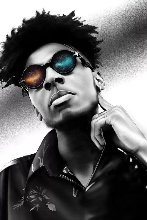 Man with neon sunglasses
