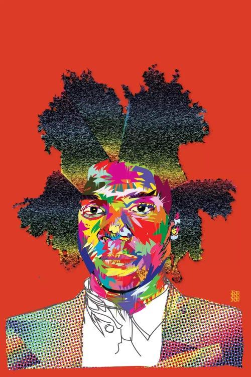 colorful jean-michel basquiat