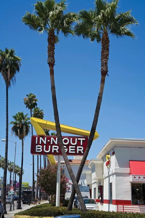 Photograph of In-N-Out Burger in California by iCanvas artist Peter Bennett