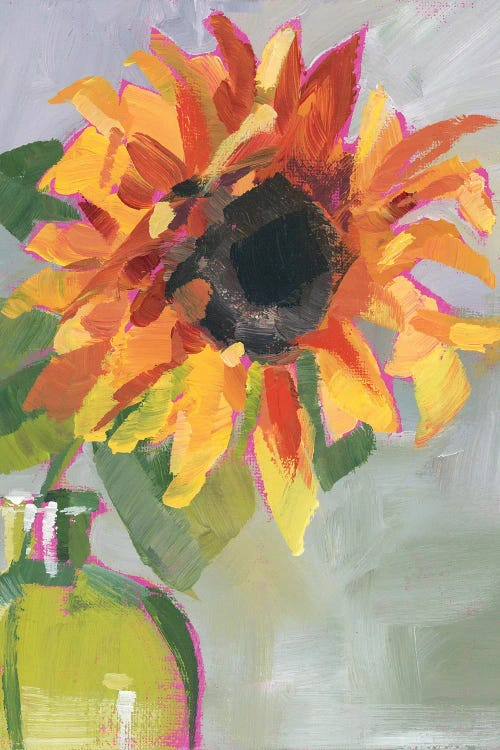 Painting of a sunflower by new icanvas creator Luanne Marten