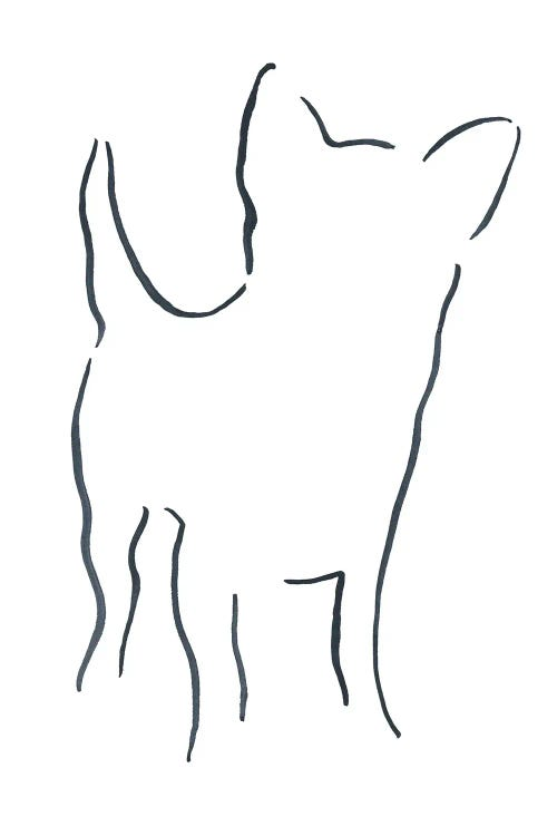 Minimalist line drawing of a chihuahua by new icanvas creator Lesley Bishop