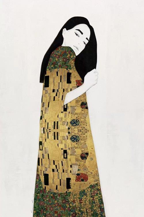 Classical art of reimagined Gustav Klimt by iCanvas artist Ramona Russu
