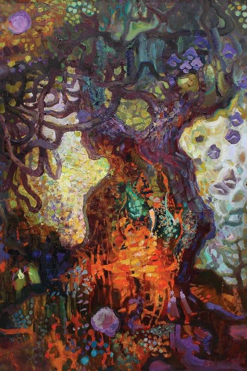 Fantasy art of enchanted forest by new icanvas creator Anastasiia Grygorieva