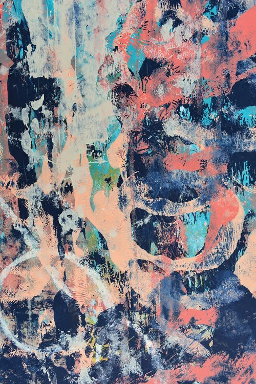 Abstract art featuring pink and blue hues by new icanvas artist Alyssa Hamilton