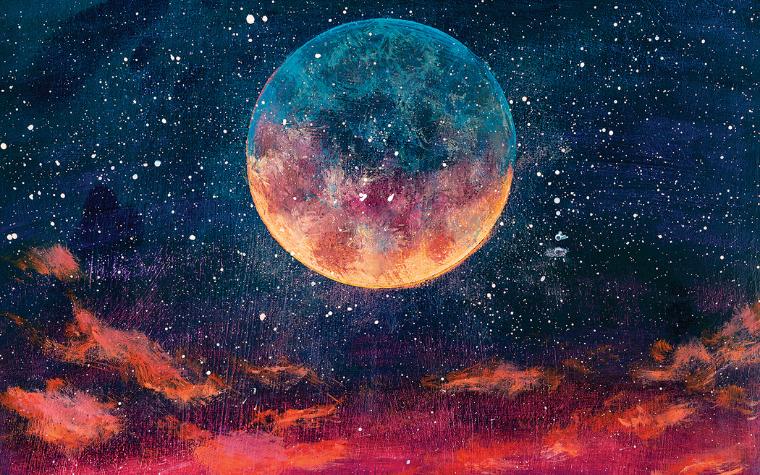 Moon art Moon wall art