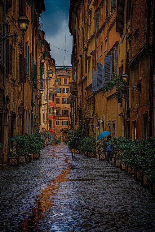 Photography of street in rome by new icanvas creator chris lord