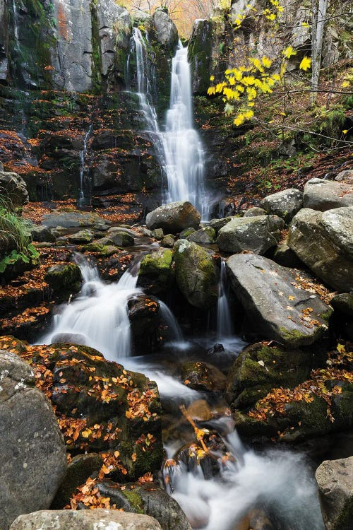 Nature photography of a waterfall in the woods by new icanvas artist Mauro Battistelli