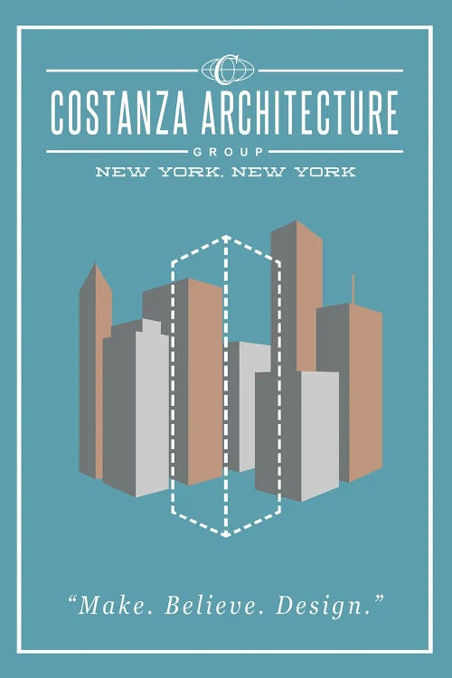 Costanza Architecture poster by new creator Ross Coskrey