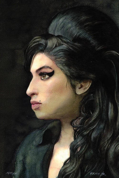 Profile portrait of Amy Winehouse by new icanvas creator REME JR