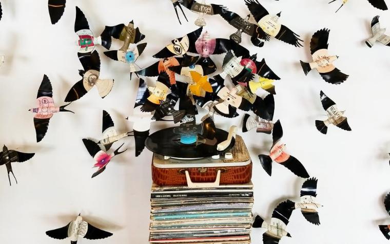 Peter Villinski Recycled Art Vinyl Wall Art
