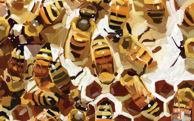 Various takes on bee art