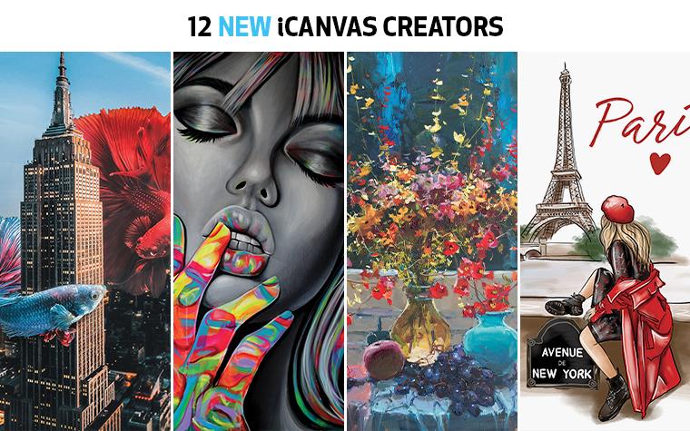 new icanvas creators new icanvas artists new creators