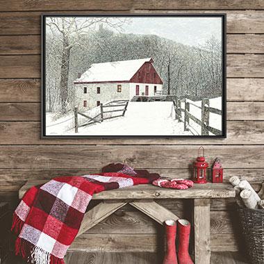 Farmhouse Festive Canvas Art Prints